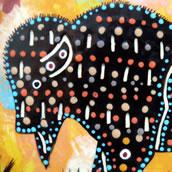Mana Pottery bison design
