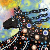 Mana Pottery horse design