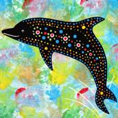 Mana Pottery dolphin design