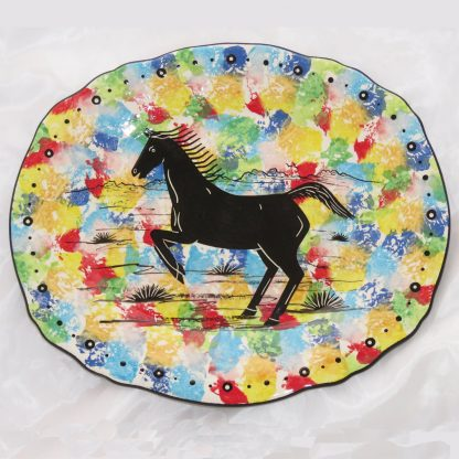 Mana Pottery platter with horse