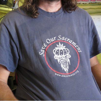 """Save Our Sacrament"" Peyote Way t-shirt"