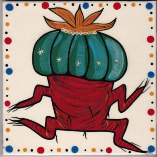 Mana Pottery dancing peyote design (red root)