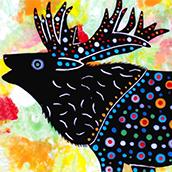 Mana Pottery elk design