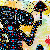 Mana Pottery Mushroom Shaman design