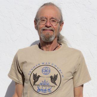 Peyote Way Church 40th Anniversary t-shirt, crew neck, tan