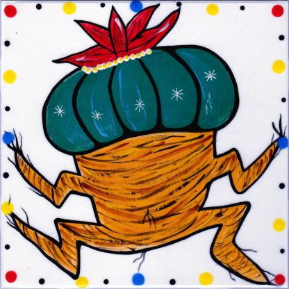 Mana Pottery clay tile with dancing peyote