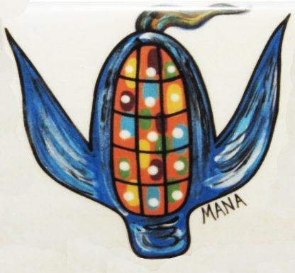 Square sacred blue corn magnet