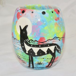 Mana Pottery Owl Mug with coyote
