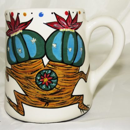 Mana Pottery's extra large mug with Dancing Peyote couplet