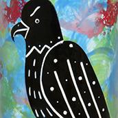 Mana Pottery gray hawk design