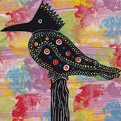 Mana Pottery kingfisher design