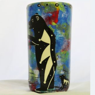 Mana Pottery bear with cub tumbler