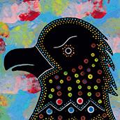 Mana Pottery eagle design