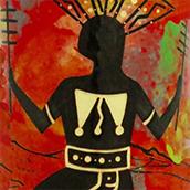 Mana Pottery Apache Gahan Dancer design