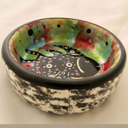 Mana Pottery little bowl featuring fish