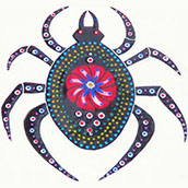 Mana Pottery's Weaver of Life spider design