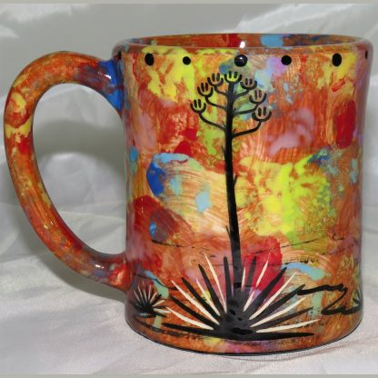 Mana Pottery e-mug featuring bear with desert landscape on reverse.
