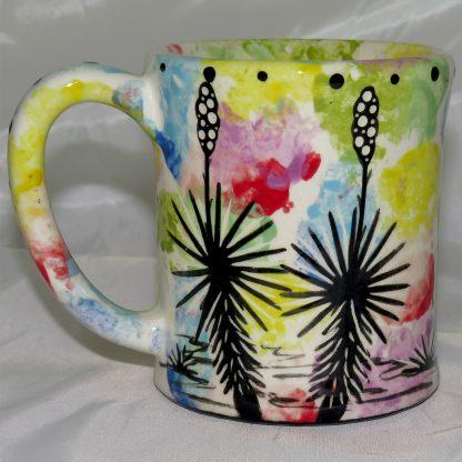 Mana Pottery e-mug featuring turtle with desert landscape on reverse.