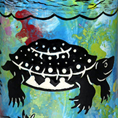 Mana Pottery Sea Turtle design