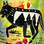 Mana Pottery wolf design